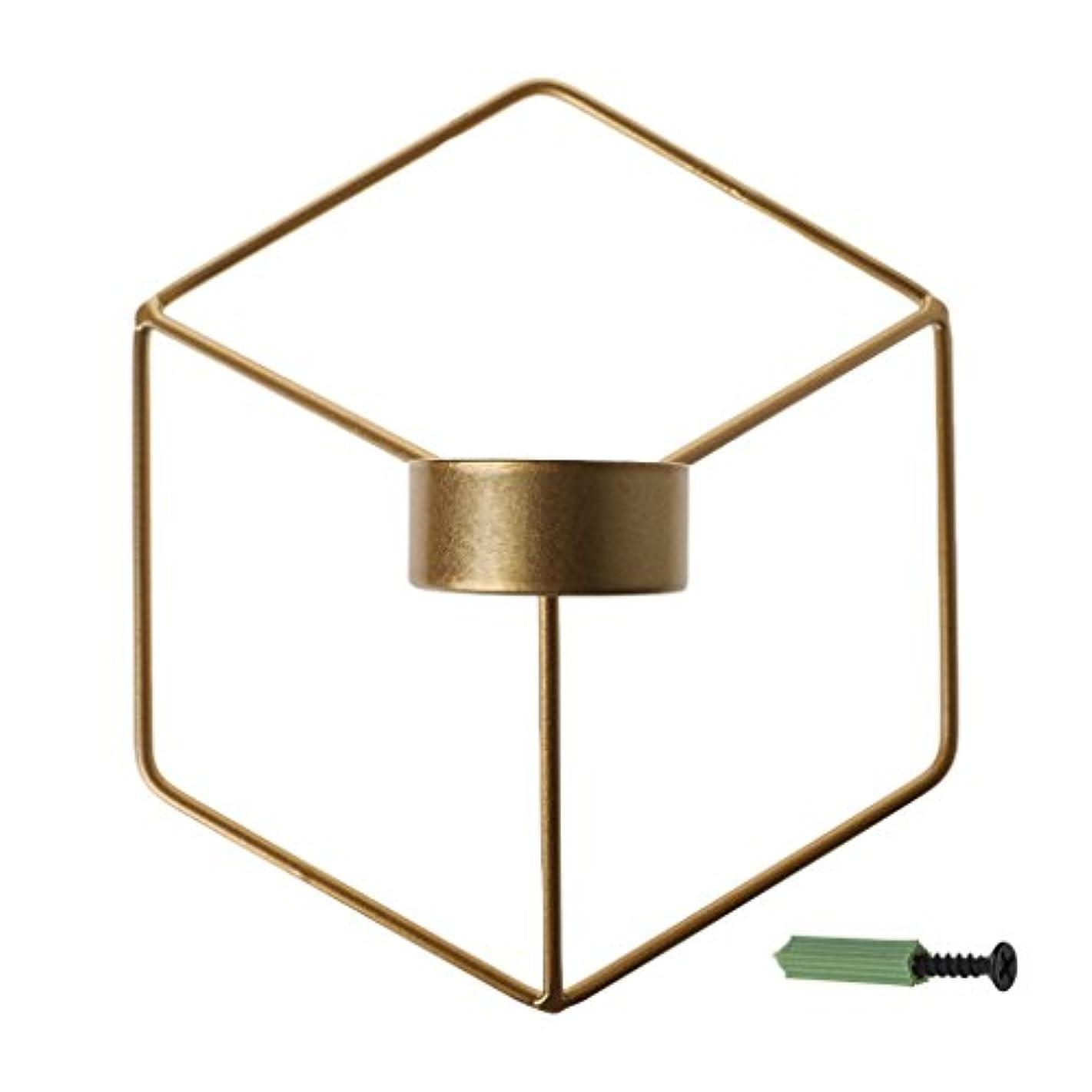 フルーツ言い訳スーダンSimpleLife 北欧スタイルの3D幾何学的な燭台の金属の壁のキャンドルホルダーSconceホームインテリア