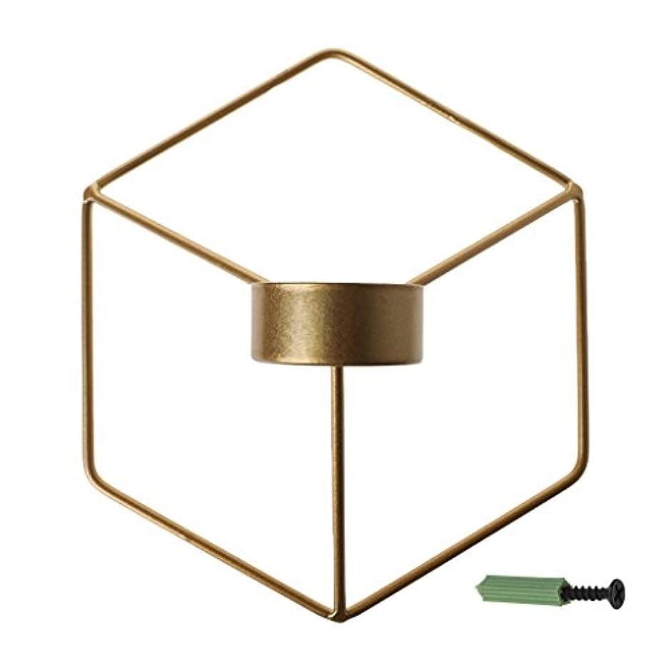 配送ドロー明らかにするSimpleLife 北欧スタイルの3D幾何学的な燭台の金属の壁のキャンドルホルダーSconceホームインテリア