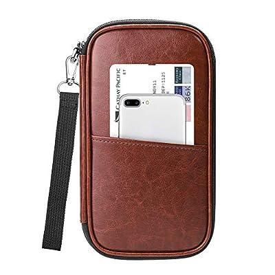 Family Travel Wallet Passport Holder, Fintie RFID Blocking Document Organizer Bag Case w/Hand Strap