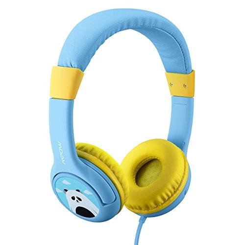 Mpow ヘッドホン 子供向け かわいいパンダ仕様 有線 ヘッドセット ワイヤレス ヘッドフォン シェアポートとマイクを搭載した音量制限附きヘッドフォン、iPad、iPod、iPhone タブレット ラップトップ Androidスマートフォン PCコンピュータに適用