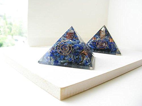 [해외]히말라야 크리스탈 포인트들이 청금석 파워 스톤 오루고나이토 피라미드/Himalayan crystal point lapis lazuli power stone orgonite pyramid
