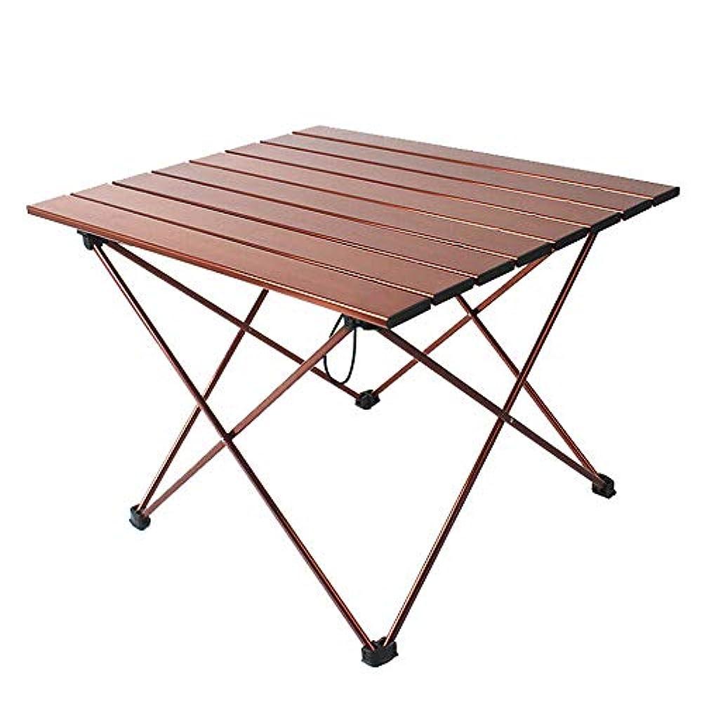 株式慣れる新しい意味PovKeever 折りたたみテーブル ロールテーブル アルミ製 コンパクト アウトドア キャンプ ハイキング 耐荷重100kg 収納ケースつき シルバー