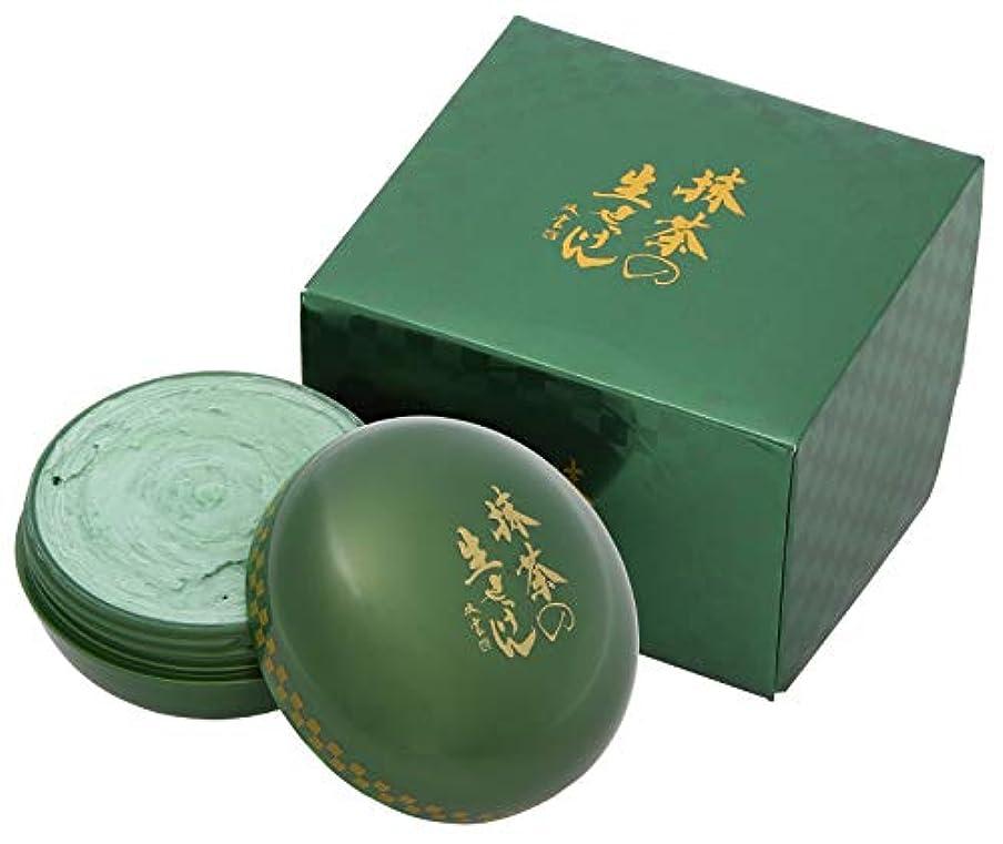 鋭く半島召喚する美香柑 抹茶の生せっけん ジャータイプ 120g (※泡立てネット・スパチュラ付き) 洗顔 抹茶の香り グリーン