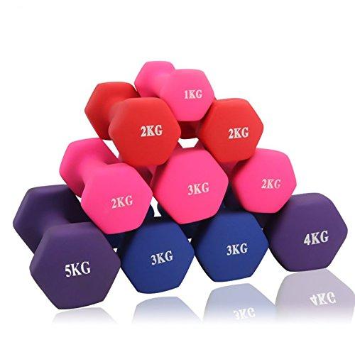 ダンベル 「2個セット1kg 2kg 3kg 4kg 5kg 10kg」「ソフトコーティングで握りやすい」「 筋トレ ダイエット 鉄アレイ 」「ポップなデザインおしゃれ シェイプアップ 」 (6kg×2個セット / ブルー)