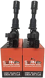 Pack of 2 - SWAN Ignition Coil for Ford Laser 1998-2002 (1.6L) & Mazda 323 1998-2003 (1