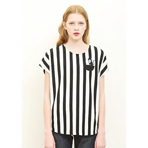 (グラニフ)graniph キャットラウンドネックボックスTシャツ / キャットアンドセタリア ( ブラック ) Lady(F)