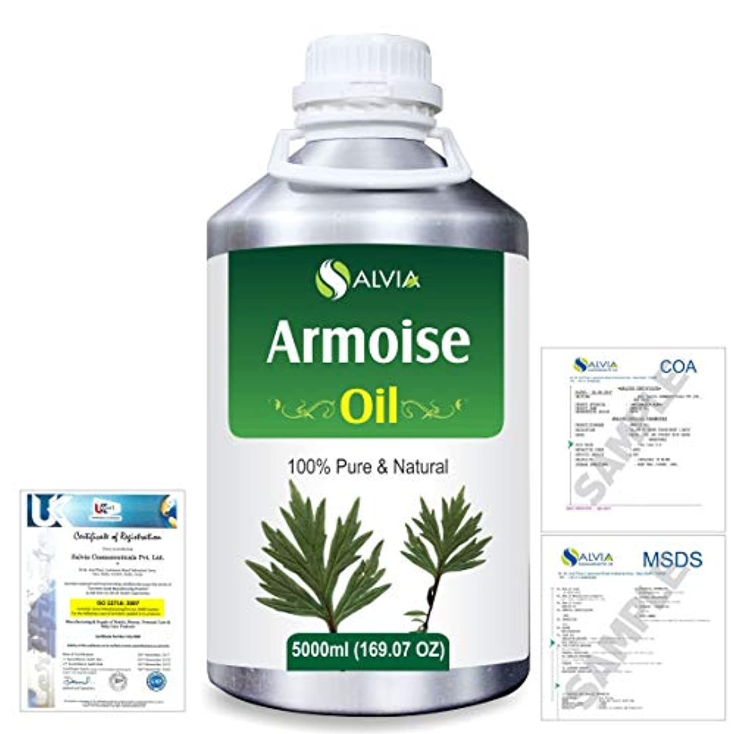 曲がった寂しい効果的にArmoise (Artimisia alba) 100% Natural Pure Essential Oil 5000ml/169fl.oz.