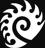 ANGDEST スタークラフトザグ(2個セット)プレミアム防水ビニールデカールステッカー ノートパソコン MacBook 携帯電話 タブレット ヘルメット 車 窓 バンパー マグカップ ドア壁装飾 4.8'' x 5.2'' ホワイト ANG-93 - 15,292 円