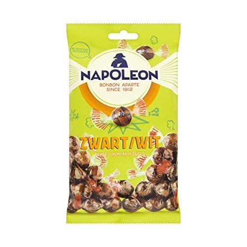 ナポレオンキャンディ - 黒と白のビーズ/ブラック白いボール スウィートハードキャンディ  7.05オンス/200グラム オランダから輸入