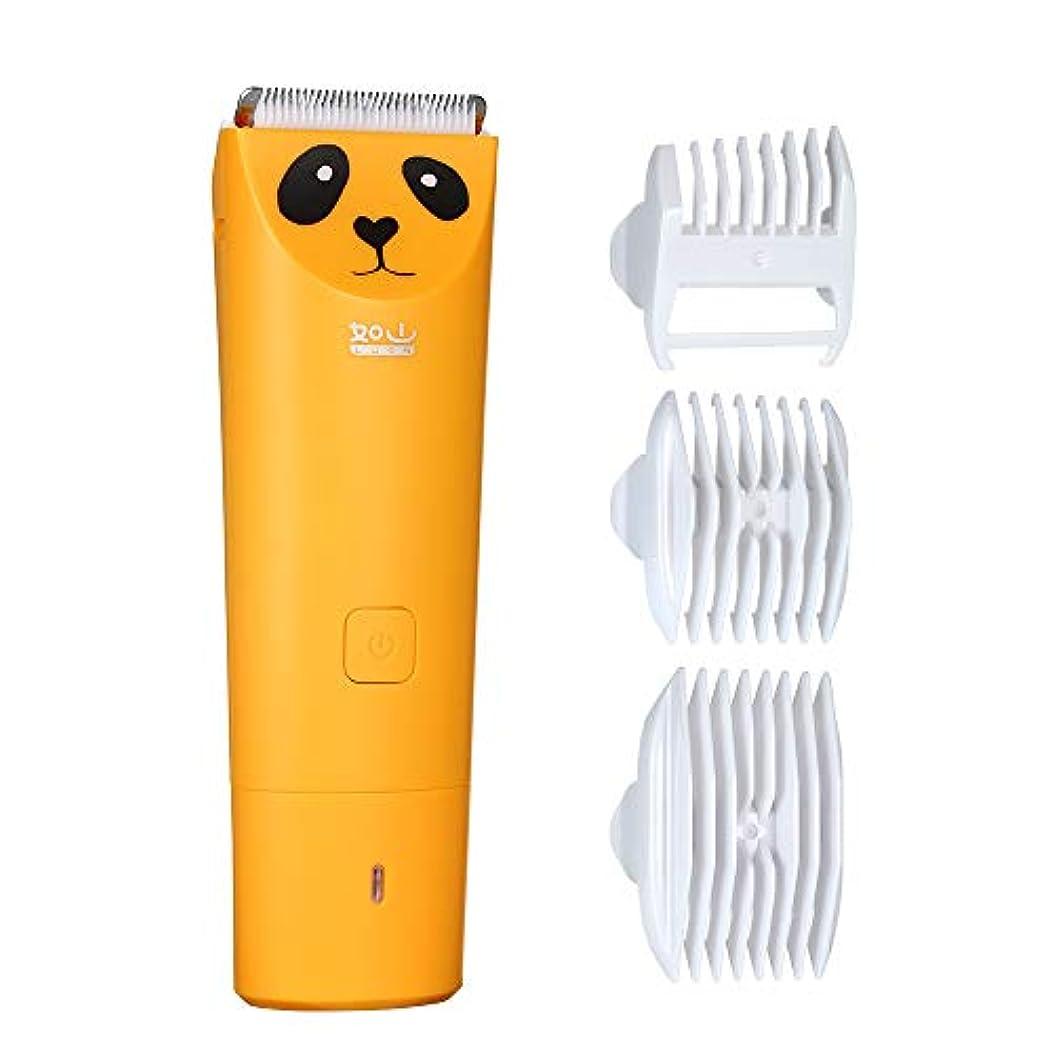 夢中乳白色先住民電動バリカン ヘアカッター コードレス USB充電式 静音 IPX-7防水 ヘアクリッパー 切れ味抜群 幼児/子供/家庭用