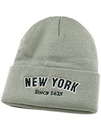 (ニューハッタン)NEWHATTAN ACRYLIC NEWYORK ニューヨーク アクリルニットキャップ グレー 16097