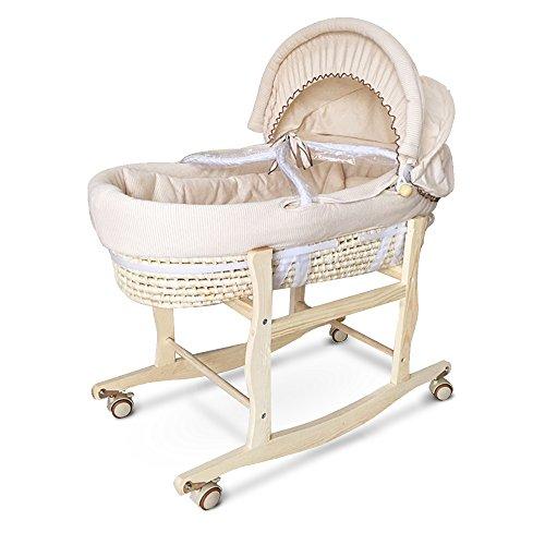 Decdeal 多機能 ポータブル ベビーベッド バシネット 新生児ベッド 睡眠旅行バスケット
