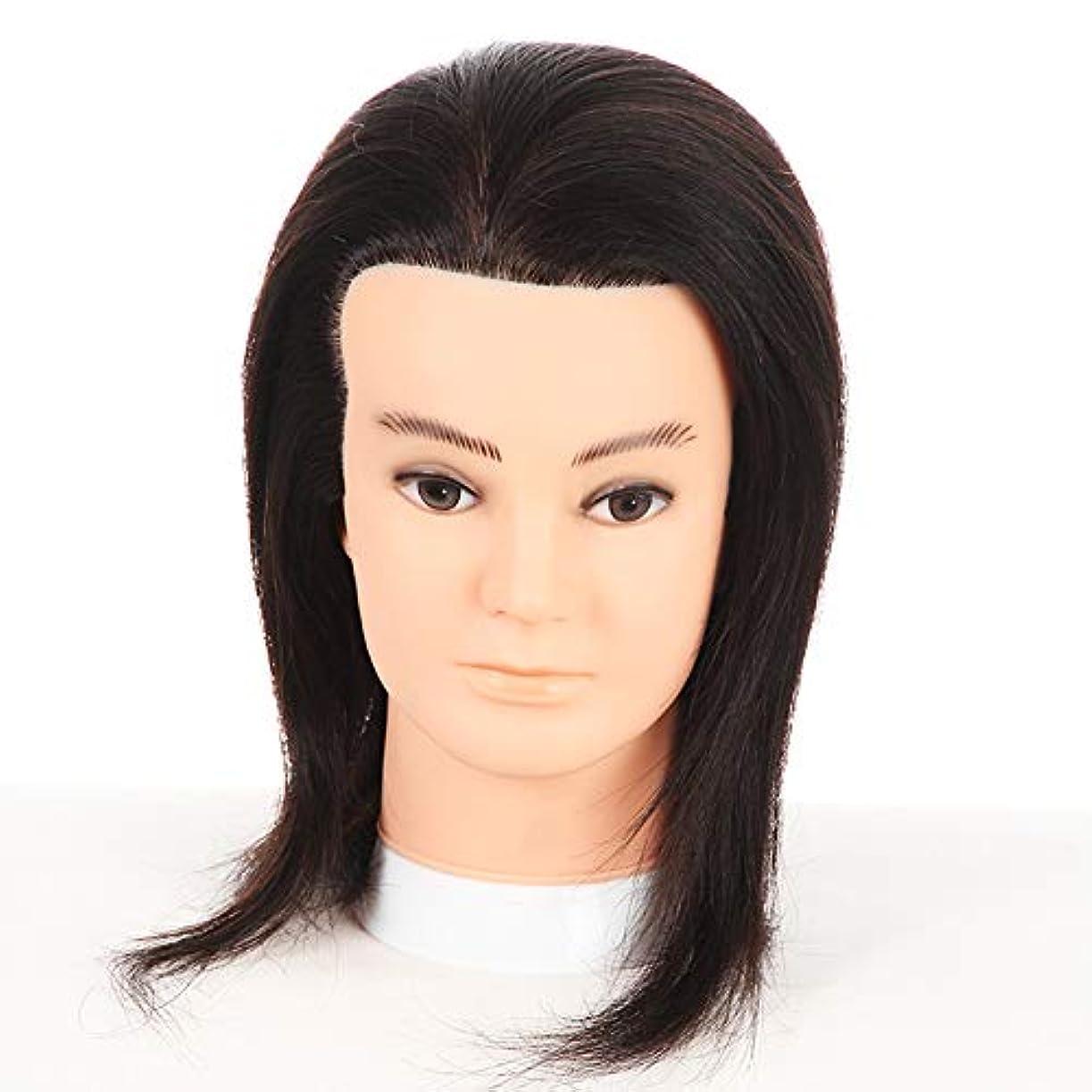 アクション速い郵便屋さんリアルヘアーヘアスタイリングマネキンヘッド男性ヘッドモデルティーチングヘッド理髪店編組染毛学習ダミーヘッド