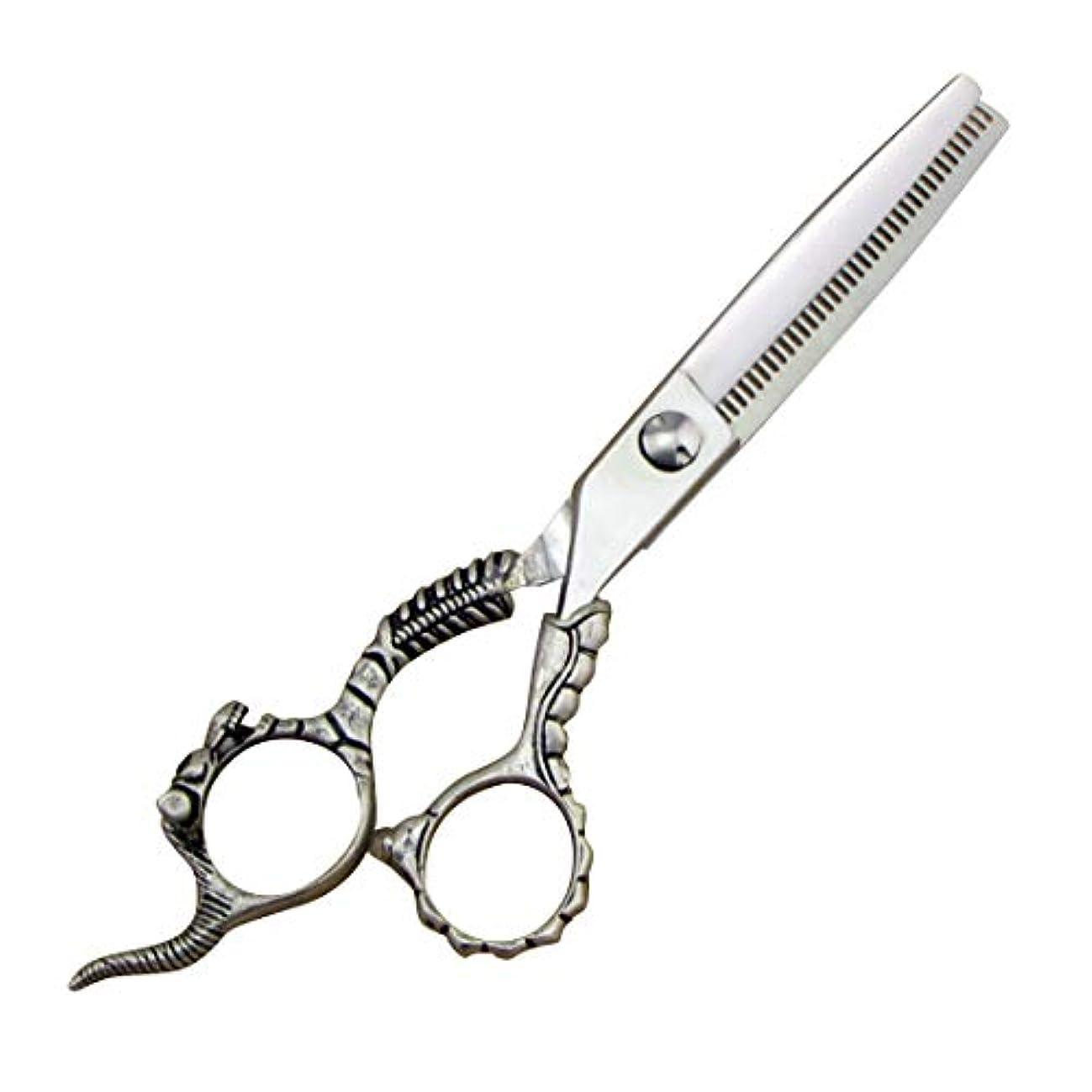雲日焼け脆いバリカンはさみプロ理髪はさみ - 理髪はさみセット - ステンレス鋼の歯はさみ&フラットせん断 ヘアケア (色 : Silver)