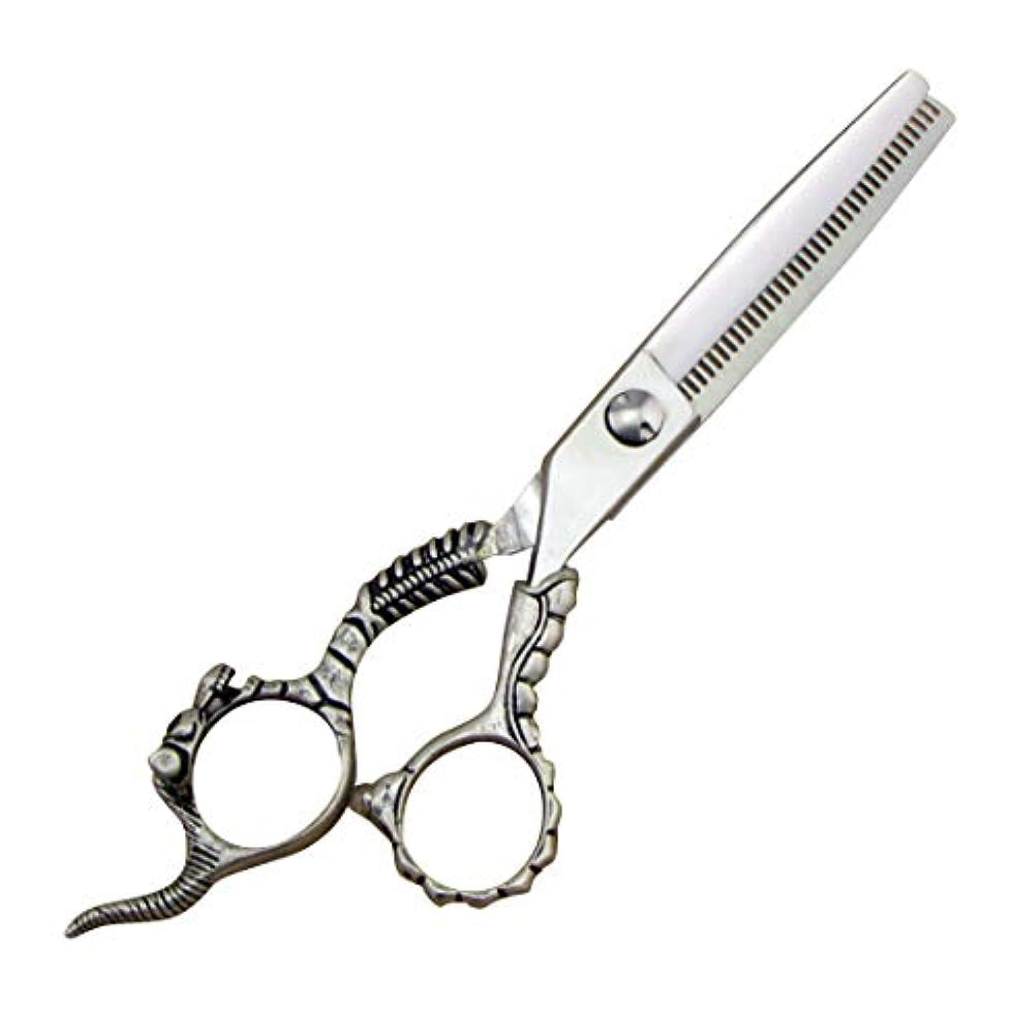 証人麻痺させるシェフ理髪用はさみ ステンレス鋼のバリカンはさみプロ理髪はさみ - 理髪はさみセット - 歯はさみ&フラットシアーヘアカットはさみステンレス理髪はさみ (色 : Silver)