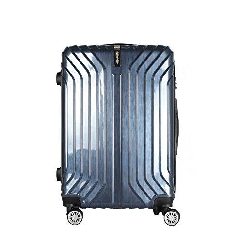 (ムーク)M∞K スーツケース 超軽量 TSAロック 【一年間修理保証】ABS+PC素材 (Sサイズ(1~3日目安)約36L, ネイビー)