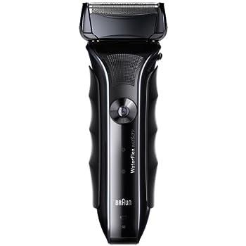 ブラウン WaterFlex メンズシェーバー 3枚刃 お風呂剃り可 ブラック WF1s