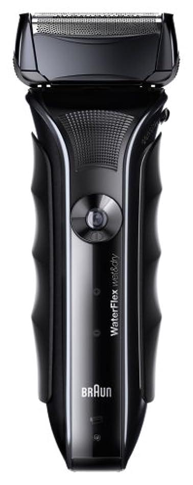 広くおかしい吸収剤ブラウン WaterFlex メンズシェーバー 3枚刃 お風呂剃り可 ブラック WF1s