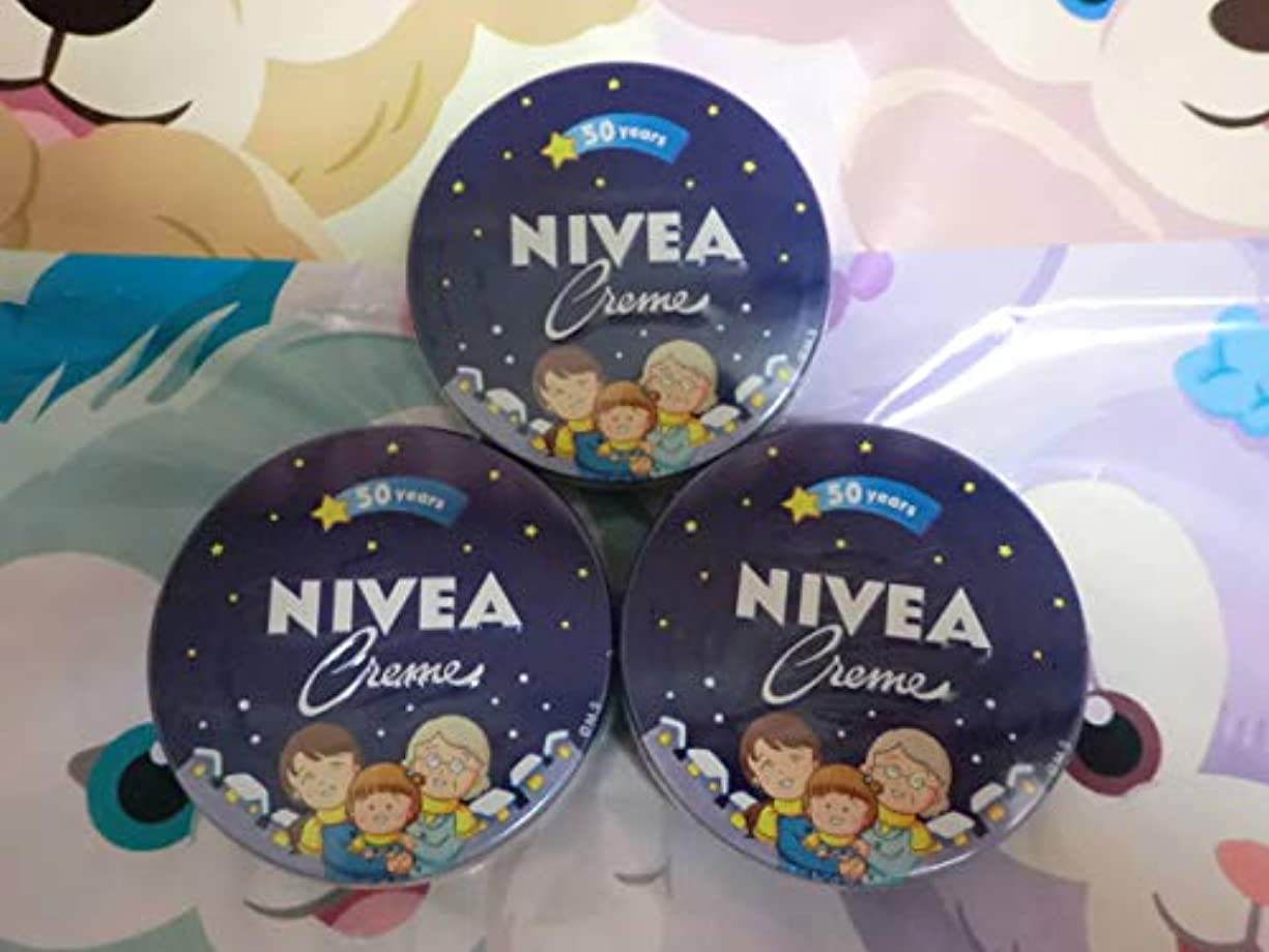 医師正しいオープナー花王 NIVEA 二べア 缶169g×3缶 さくらももこデザイン 50years ちびまるこ 二べアクリーム 二べアスキンケアクリーム ハンドクリーム anime キャラクター グッズ