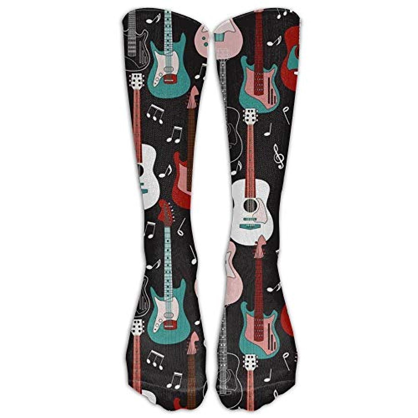 永遠のプレート抗議Rock And Roll Guitars Compression Socks For Men & Women - Medical Graduated - Prevent Swelling & DVT - For Training...
