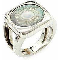 [エルメス] HERMES セリエ リング 指輪 メッキ シルバー色 9号 #9