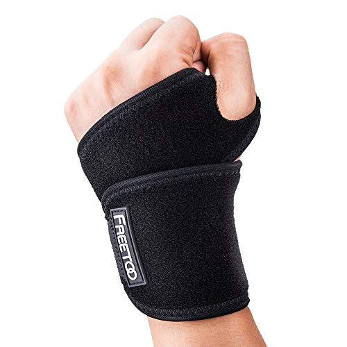FREETOO 手首サポーター リストラップ 手首固定 手首保護に怪我防止 男女左右兼用 野球/テニス/剣道など
