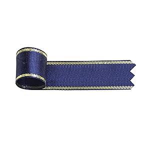タカ印 リボン 50-7414 イブ 幅18mm×10m巻 青