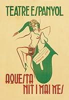 """Madame Chic–Theater Espanyol Fineアートキャンバス印刷(20"""" x30"""")"""