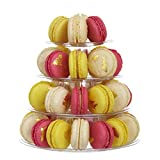 クインウィンド フランスのマカロンの装飾のベーキングスタンドのための4層マカロンタワーディスプレイスタンド -
