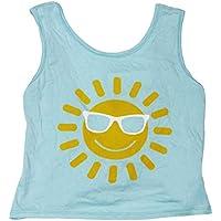 PLAY SIX Little Girls Sun Graphic Print Open Tie-Back Tank Top