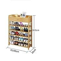 靴のラックポンプ付き多層のシンプルな省スペース家庭用靴箱ドアの小さな靴のラック (サイズ さいず : 70 * 26 * 103cm)