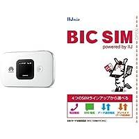 Huawei SIMフリーモバイルwi-fiルーター E5577S ホワイト 【日本正規代理店品】 &BIC SIM 全プラン 全SIMサイズ対応パッケージ セット