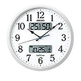 セイコークロック 掛け時計 05:白パール 01:直径35cm 電波 アナログ カレンダー 温度 湿度 表示 ネクスタイム ZS250W