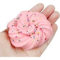 Hisoul コットンマッドクレイ おもちゃ 美しいカラー フェアリーフロス クラウド スライム 圧迫 ストレス解消 粘土おもちゃ ピンク 35866d