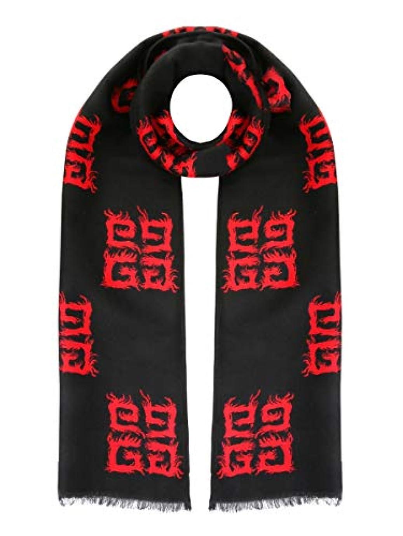 迫害する変成器口Givenchy レディース BG002PG012009 ブラック ウール スカーフ