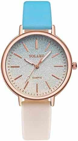 137c2148de Yeefant 腕時計 レディース おしゃれ 人気 時計 クラシカル デザイン 革バンド ステンレスケース グラデーションカラー 可愛い ウォッチ