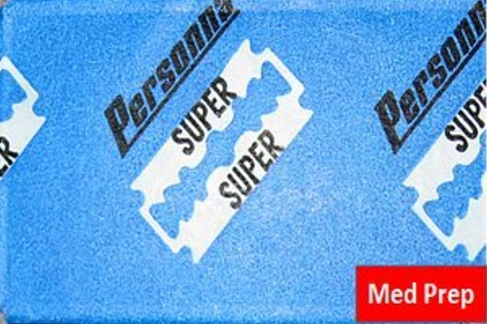 目立つ先生キャンセルPersonna Med Prep 両刃替刃 5枚入り(5枚入り1 個セット)【並行輸入品】