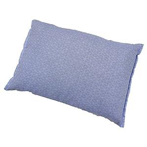 そば枕 そばがら枕 小紋柄 アンサンブル そばまくら モリシタ 昔ながらの天然素材 ブルー 30×42cm