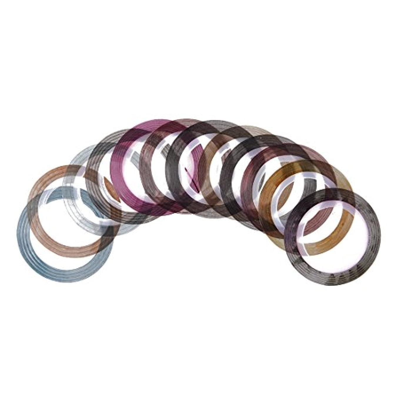 織る同情摂動RETYLY 12カラーネイルアートチップのネイルテープトリムラインストライプロールステッカー新しい