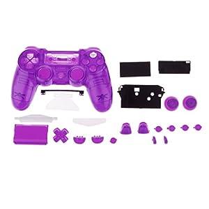 Lovoski フルハウジングシェルケース アクセサリキット 交換用 PS4コントローラ対応 紫色