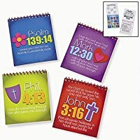 JOY FOR JESUS SPIRAL COLOR PADS WITH STICKERS (1 DOZEN) - BULK [並行輸入品]