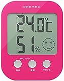 ドリテック(dretec) デジタル温湿度計 「オプシス」 ピンク O-230PK