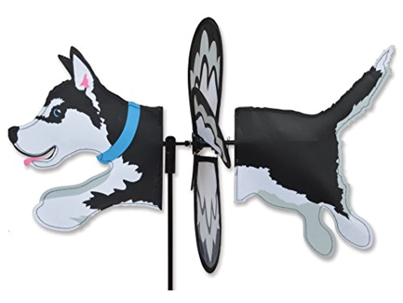 (Husky) - Premier Kites Petite Wind Spinner for Patio, Lawn, Garden 100% Rain & UV Resistant Polyester - Aerodynamic, Sturdy Long Lasting Dog Wind Spinner (Husky)