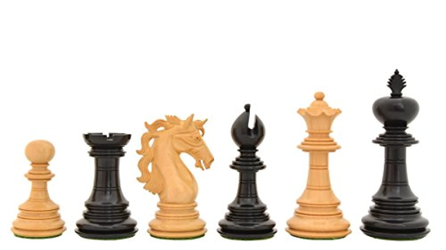 Chessbazaar American Adios Series Luxury Chess Set in Ebony / Box Wood - 4.4