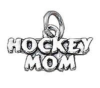 スターリングシルバー女の子0.8MMボックスチェーンHockey Momスポーツペンダントネックレス