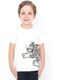 (グラニフ) graniph コラボレーション キッズ Tシャツ チェイス (トムとジェリー) (ホワイト)