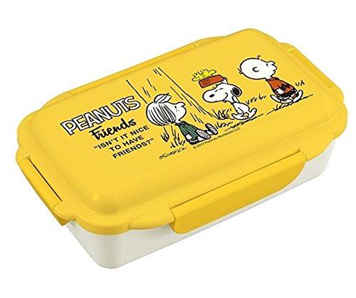 オーエスケー ピーナッツ(No.3) 4点ロック式 お弁当箱 (仕切付) PCD-500