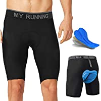 Yuanyistyle Men's Cycling Underwear Shorts, Sports 4D Padded Stretchy Quick Dry Bike Bicycle MTB Pants Biker Breathable Underpants