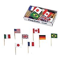お子さまランチ 旗 国旗 ホームカフェ 万国旗 各国混合 144本入 57331