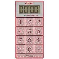 -まとめ-DRETEC・キッチンタイマー・光と音で時間をお知らせ・デジタルタイマー・スリムキューブ・T-520PK-×5セット-